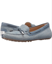 size 11 Michael Kors Daisy Moc Washed denim Loafers Driver Womens Shoes NEW