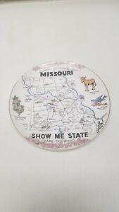 "Missouri Show Me State Ozark Dogwood Souvenir 8"" Plate"