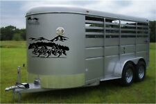 Horses & Mountains Landscape Horse Trailer Truck Decal Equestrian Sticker
