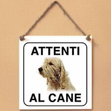 Briquet Griffon Vendeen 1 Vende Attenti al cane Targa piastrella cartello