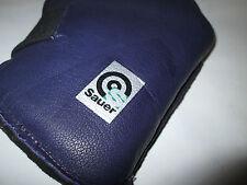 Sauer Fullbore / Prone Leather mitt / Glove  Small Aqua/Purple