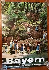 Bayern Luisenburg Festspiele Fichtelgebirge 70er Poster Plakat Bavaria Germany