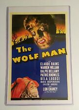 """""""The Wolf Man"""" 11""""X17"""" Movie Poster W/Heavy Plastic Sleeve ~ NEW!"""