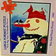 """Bits and Pieces 300 Piece Jigsaw Puzzle """"Snowman's Treat"""" by Fred Szatkowski"""