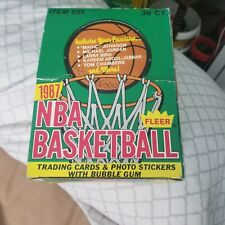 1987-88 fleer basketball  box only w 1 wrapper in mt condition! Michael Jordan