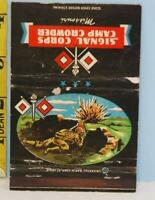 Signal Corps Camp Crowder Missouri WWII Postcard Matchbook