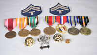 Lot of US Military World War II 2 Medals Mountedbar Victory liberation Asiatic