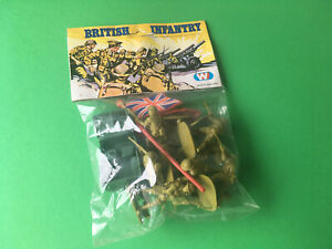 VINTAGE SET PACKAGE WITH VINTAGE TOY SOLDIERS BRITISH INFANTRY HONG KONG NEW