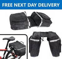 Double Panniers Bag Bike Bicycle Cycling Rear Seat Trunk Rack Pack UK STOCK