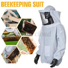Beekeeping Equipment Jacket Veil Bee Keeping Cotton Suit Hat Pull Over Smock Us