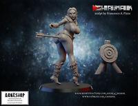 "Wood Elf ""Pin-up (+Target)"" Ghamak | 28mm-35mm | DnD | Tabletop | RPG | Boneshop"