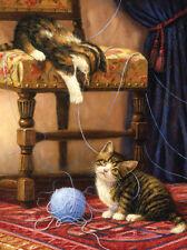 Malen nach Zahlen - Spielende Katzen