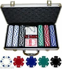 300pcs Chips Poker Game Set + Aluminium Briefcase Casino Game