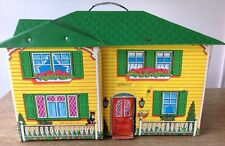 VINTAGE MATTEL 1970 DOLL HOUSE # 4980 YELLOW GREEN VINYL  VINTAGE TOY
