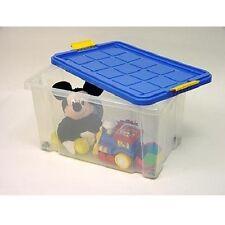 Euro-Box mittel mit Deckel 40x30x20cm, Aufbewahrungsbox, Vielzweckbox, Stapelbar