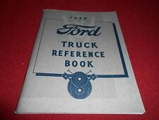 1939 FORD TRUCK OWNER MANUAL REFERENCE BOOK 39 PICKUP PANEL BIG RIGS 85 & 95 HP