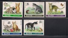 Korea.. 1991  Sc # 3021-25  Cats   MNH  OG   (3-5497)