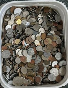 25 Pound Lot of Mixed and assorted World/Foreign Coins FREE SHIPPING