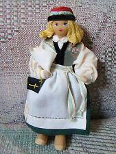 Charlotte Weibull Swedish vintage costume doll - Skane Sweden on Sunday w bible