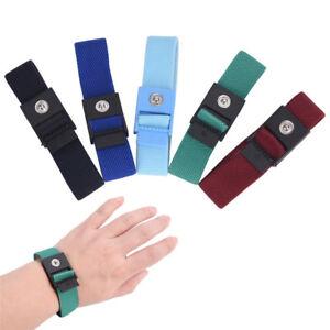 Anti-static Cordless Bracelet Electrostatic ESD DischargeCable Wrist Strap;UK