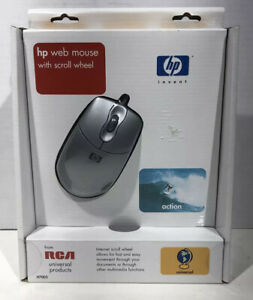 NOS Vintage 2001 HP web mouse with scroll wheel usb with ps/2 adapter new