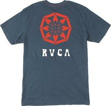 NWT MEN'S RVCA TEE SIZE MEDIUM VINTAGE ALSWEILER FLOWER T-SHIRT NAVY POCKET SS