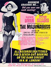 MILLIONAIRESS 1960 Sophia Loren, Peter Sellers, Alastair Sim TRADE ADVERT