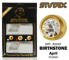 Studex Personal Ear Piercing Kit With Pre Loaded Gold Plated Crystal Stone