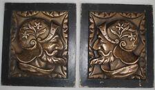 Pesants-Pendants 4,2 kgs Ornements Bronze Conquistador Feodal Baroque Plaques