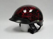 DOT Boneyard Red Skull Shiny Helmet Free Shipping!