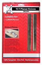 LUREM CARBIDE Planer Blades 260mm to suit LUREM machine 260202.5TCT