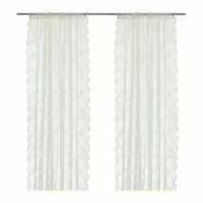 """IKEA ALVINE SPETS Curtains Sheer Net LACE OFF WHITE 2 Panels  57x98"""" BRAND NEW"""