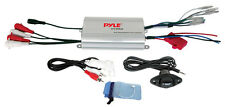 New Pyle PLMRMP3A 4 Channel Waterproof MP3 Input Marine Boat Power Amplifier Amp