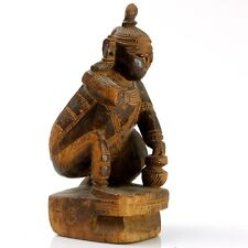 Rare Tribal Art Wood Woman Sculpture, Thailand, 18th Century