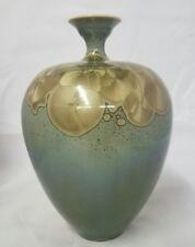 VINTAGE CRYSTALLINE Studio Art Signed Pottery Vase Linda Brendler California
