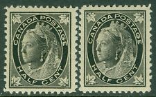 EDW1949SELL : CANADA 1898 Unitrade #66. 2 VF, Mint Never Hinged stamps. Cat $120