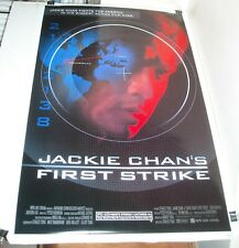 ROLLED 1996 JACKIE CHAN FIRST STRIKE 1 SHEET MOVIE POSTER CHEN CHUN WU 2 SIDED