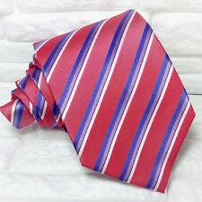 Cravatta Regimental rosso jacquard Made in Italy 100% seta business matrimoni