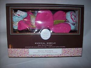 """Kenneth Brown Sweet Stitches Mobile Plays PINK """"rock a bye baby"""" NEW IN BOX"""
