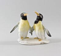 Porzellan Figur Pinguin Paar Vogel Ens H13cm 9997804#