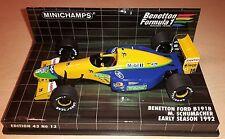 143 Minichamps Benetton Ford B 191 B MICHAEL SCHUMACHER RARE