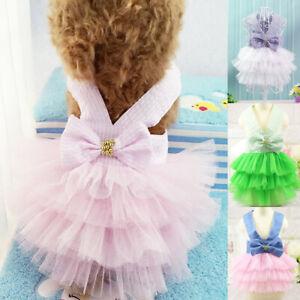 Pet Small Dog Mesh Lace Dress Princess Tutu Skirt Puppy Dog Cat Apparel Clothes