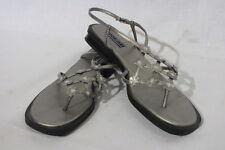"DANELLE Strappy Bronzed ""Essence"" Sandals W/Floral Decor Womens Size 10 B31"