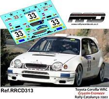 DECAL/CALCA 1/43; Toyota Corolla WRC Gryazin-Eremeev Rally Catalunya 2002