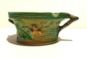 EARLY ROSEVILLE POTTERY ASHTRAY IN THE BUSHBERRY PATTERN RARE