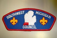 OA SOUTHWEST MICHIGAN COUNCIL SCOUT PATCH CSP SERVICE FLAP PLASTIC BACK