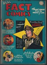 REAL FACT COMICS #4 DC 09/46 FIGHTER PILOT JIMMY STEWART JACK LONDON & MORE FN+