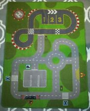 Ikea Lillabo Kids Road City Car Truck HELLICOPTER Toy Floor Mat Play Rug 52X39