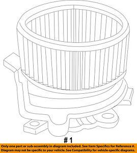 CHRYSLER OEM-Blower Motor 4885325AB