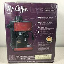 Mr. Coffee BVMC-ECM260R Steam Espresso & Cappuccino Maker 4 Shot - Red